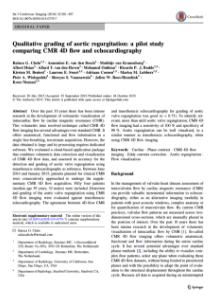 Article Comparaison 4D Flow and US Aortic Regurgitation